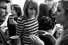 It's my birthday so I'm having a house party (Gary Kinsman) Tags: party bw london kitchen night houseparty blackwhite availablelight ambientlight candid talk late talking unposed crowded kentishtown highiso gesticulate 2016 nw5 fujifilmx100t fujix100t