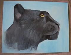 Leopard Painting (Skydrak) Tags: bild panther acryl leinwand gemlde schwarzer