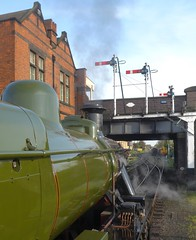 Great Central Railway Loughborough Leicestershire 5th May  2016 (loose_grip_99) Tags: uk railroad england station train leicestershire may engine rail railway trains steam signals transportation locomotive railways loughborough semaphore preservation midlands 260 footplate lms greatcentral eastmidlands 2016 gcr ivatt uksteam 46521 2mt gassteam