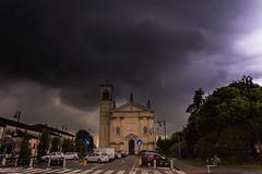 Storm over Legnaro town (carlo.goweather) Tags: hail canon thunderstorm pioggia temporale legnaro eos100d canoneos100d canon100d