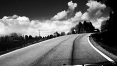 back home (blazedelacroix) Tags: road blackandwhite home car clouds walking back flickr sony thewalk laroute trefoiled rx100 tumblr blazedelacroix