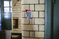 The Stigs early ancestory (I AM JAMIE KING) Tags: texture sign architecture advertising manchester fire dof rusty f1 smoking explore tiles marlboro firestation cigarettes derelict flaky crusty patina develop malboro redevelop thestig londonroadfirestation
