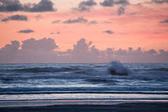 Sunset, the Oregon Coast. (Michael Riffle) Tags: summer seascape color clouds oregon canon coast wave bandon splash 2015 michaelriffle