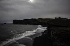 South Coast farewell (aerojad) Tags: longexposure travel cliff beach nature landscape blacksand iceland sand gloomy cloudy dreary wanderlust southcoast blacksandbeach dyrhlaey daytimelongexposure thesouthcoast iceland2016