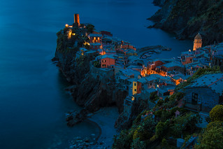 Dusk Falls on Vernazza