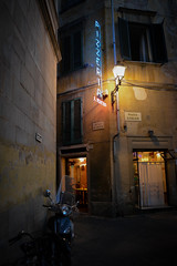 Pisa Dinner (chriswalts) Tags: travel sunset italy streets tower night pisa leaning