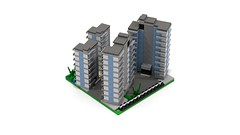 Section DownTown Edge 2 back (RedRoofArt) Tags: lego moc mini pica pico micro city building flat architecture