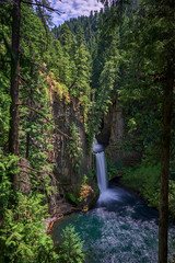 Serene Basalt (Maddog Murph) Tags: travel blue trees green water beautiful vertical oregon forest river flow photography long exposure north fork drop falls adventure reflect monolith basalt clearwater umpqua glisten taketee