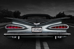ASSMAN (Neil Banich Photography) Tags: original chevrolet belair car automobile rear heavymetal chevy