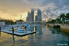 Keppel Bay at sunset. (Reggie Wan) Tags: city sunset architecture singapore asia southeastasia moderncity asiancity keppelbay reflectionsatkeppelbay reggiewan sonya850 sonyalpha850 gettyimagessingaporeq1