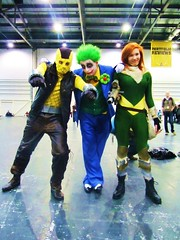 IMG_1132 (the_gonz) Tags: costumes london comics dc costume comic purple cosplay clown spiderman convention batman joker superheroes shocker gotham marvel villain con marvelcomics darkknight excel theshocker thejoker londonsupercomicconvention