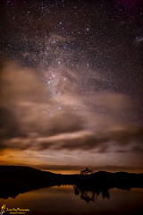 The Night has a Thousand Eyes (southern_skies) Tags: lake water stars island glow australia queensland perseverance nightcloud toowooomba