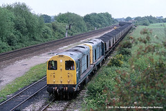 24/06/1991 - North Stafford Junction, Willington. (53A Models) Tags: diesel derbyshire britishrail freighttrain willington 20016 20081 class20 stensonjunction northstaffordjunction