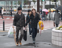 (kasa51) Tags: street city people japan digital umbrella lumix couple panasonic f18 olympuspen 45mm kawasaki  gf1  mzuiko