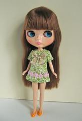 ribbon mini dress green