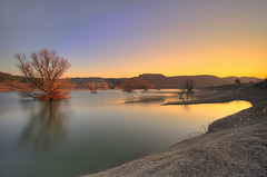 Lake sunset (Nick-K (Nikos Koutoulas)) Tags: trees sunset lake tree water greece    kozani