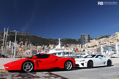 Only In Monaco #5 (Raphaël Belly Photography) Tags: red white paris up car de french rouge photography eos hotel riviera photographie duo ferrari casino montecarlo monaco line belly exotic f 7d enzo passion blanche raphael rosso rb spotting lfa lexus supercars lineup combo raphaël f60 principality worldcars