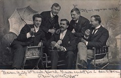 Good Time Boys, German Real Photo Postcard, November 1904 (lisby1) Tags: collection ann longmoreetheridge
