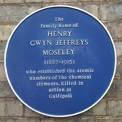 Photo of Henry Gwyn Jeffreys Moseley blue plaque