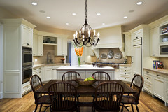 "Kitchen with family table and chandelier • <a style=""font-size:0.8em;"" href=""http://www.flickr.com/photos/75603962@N08/6853270749/"" target=""_blank"">View on Flickr</a>"