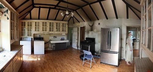 Modern kitchen in century old home
