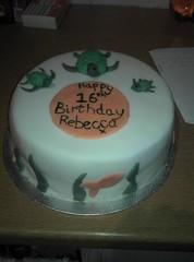 Becca's 16th (ailsasyl) Tags: cake john hearts stars paul star george duck harrison purple drum turtle butterflies beatles dots lennon ringo mcartney sugarpaste