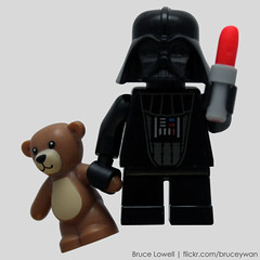 Baby Vader (bruceywan) Tags: bear baby toy star lego teddy bruce darth lightsaber wars lipstick vader minifig lowell moc