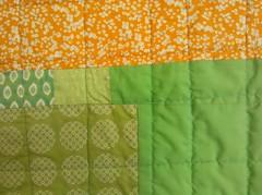 roland's quilt (square one studio) Tags: orange green aqua squares jasmine quilting babyquilt housequilt lapquilt modernquilt wonkylogcabinquilt