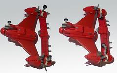 Scarlet Fury (JonHall18) Tags: plane fighter lego aircraft gear landing scifi moc skyfi dieselpunk dieselpulp