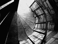 Nikon Coolpix P7100 (Krup Photography) Tags: blackandwhite bw stairs nikon stair stairwell coolpix p7100
