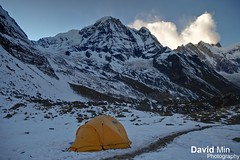 Annapurna Base Camp, Nepal - Frozen Morning (GlobeTrotter 2000) Tags: trip morning travel nepal winter vacation cloud mountain snow mountains cold tourism ice expedition nature sunrise trekking trek landscape climb frozen heaven bright outdoor hiking south iii prayer dramatic visit flags tent glacier adventure explore climbing alpine ii planet abc lonely peaks himalaya circuit everest range pokhara annapurna sanctuary hymalayan himalayan gurung fishtail himal hiunchuli i machapuchare