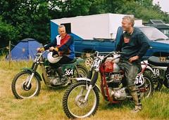 The Farm -  2003  - Peter Hollinshead & Pat Aldridge (ericmiles47) Tags: classic aldridge scramble bsa scrambler hollinshead tribsa triumphmetisse