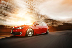 Mike Bonell's MK6 GTI (Ronaldo.S) Tags: red motion vw movement nikon air low automotive rig gti f28 slammed 2035mm mk6 d700