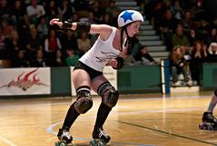 lightning_vs_thunder_L7008995 (nocklebeast) Tags: santacruz sports action rollerderby skates whitelightning blackthunder santacruzcivicauditorium scdg leicasummicron90mmf20apoasph jackblacks scphoto santacruzderbygirls santacruzderbygirlsstadium bettiewhites