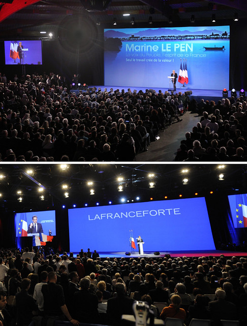 Meetings: MARINE LE PEN / Nicolas Sarkozy