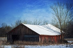 Michigan winter (explored) (Dennis Cluth) Tags: winter texture barn nikon michigan d90