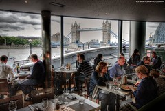 a late lunch with a view (Rex Montalban Photography) Tags: greatbritain england london towerbridge hdr photomatix unitedkindom rexmontalbanphotography
