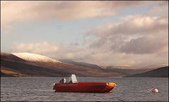 Loch Arkaig Boat (onceawildchild) Tags: winter scotland february fromthearchives 2011 locharkaig