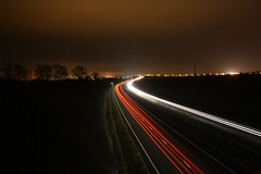Trailing off (CJ Isherwood) Tags: road cars painting lightpaint cartrails trailing aroad lightpain