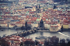 Prague skyline (The Globetrotting photographer) Tags: street old city winter urban skyline europe republic czech pragu