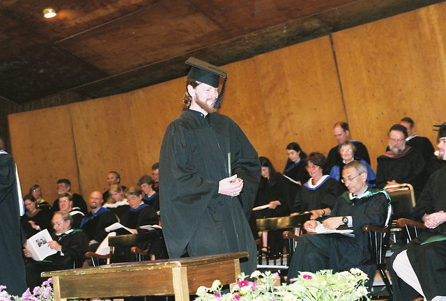 Graduate Walks Across the Stage
