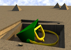 Archaeologists Unearth Answer to Age-old Mystery (krapzapper) Tags: strange mystery weird site bucket sand pyramid humor humour odd egyptian discovery dig spade excavation krapzapper