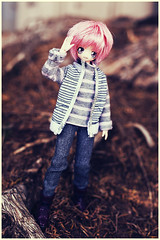 Shu-chan! (Hiritai) Tags: pink anime male fan doll dolls 21 head wig 23 gravitation styled shuichi f01 fleshtone obitsu shindo 23cm 21cm shindou