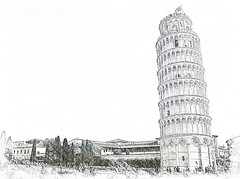Pisa leaning tower (khalifa_) Tags: travel bw italy white black color colour building tower church horizontal architecture del buildings outside outdoors atardecer evening town arquitectura travels europa europe italia torre exterior arte cathedral bell outdoor faades towers churches cathedrals landmarks catedral iglesia ciudad landmark facades medieval pisa ciudades viajes lugares tuscany templos daytime atardeceres piazza iglesias toscana towns da artes mundo templo dei faade baptisterio q8 catedrales romnica exteriores miracoli romnico ital diurno inclinada medievales d5100 baptisterios nikond5100