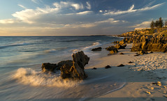 Beach Evening (PeteG Photos) Tags: ocean sunset beach clouds waves perth northbeach westernaustralia