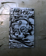 Trevor (Georgie_grrl) Tags: toronto ontario poster skull trevor photographers social advertisement pentaxk1000 octopus outing newartist octopusink cans2s rikenon12828mm torontophotowalks topwci2 corsoitaliaversion20 948stclairwest