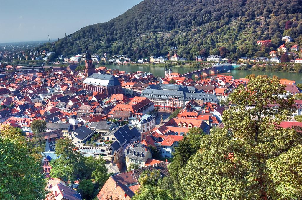 Heidelberg city and Neckar River