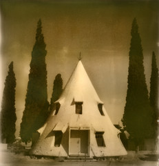 teepee, with a view (daniel southard) Tags: arizona david project sx70 bowie imossible px600 nonotthatbowie