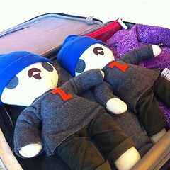 Packing my bag with little zeldmen
