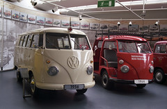 Germany 2012: Volkswagen Museum (Ronald_H) Tags: bus film vw volkswagen nikon air ambulance 1956 fe transporter t1 1964 2012 bulli aircooled cooled